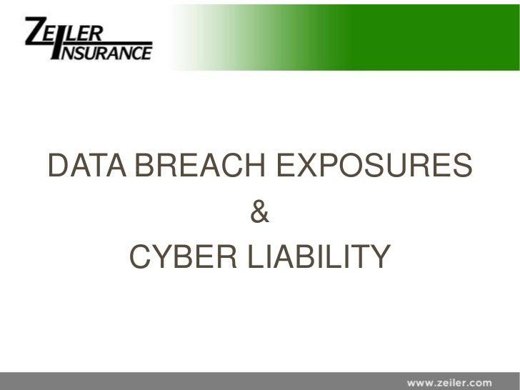 DATA BREACH EXPOSURES          &    CYBER LIABILITY