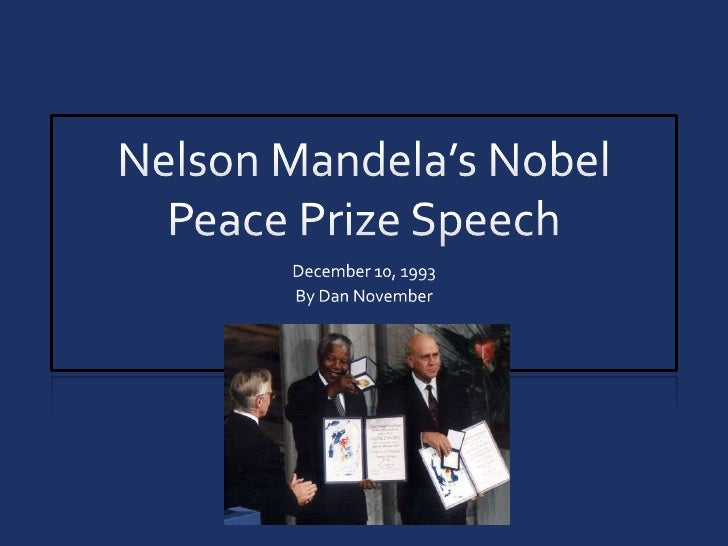 analysis of mlk nobel peace prize acceptance speech