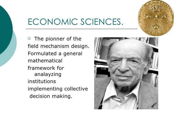 NOBEL PRIZE - ECONOMIC SCIENCES  (Part 2) Slide 2