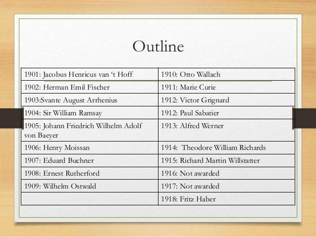 NOBEL PRIZE IN CHEMISTRY 1901 1959 Slide 3