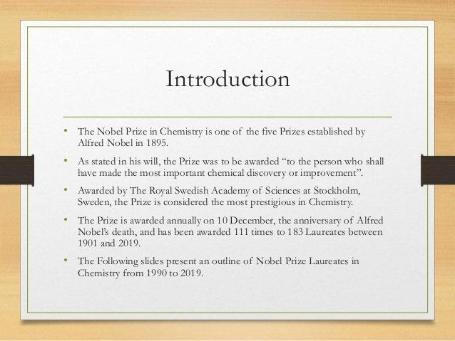 NOBEL PRIZE IN CHEMISTRY 1990 2019 Slide 2