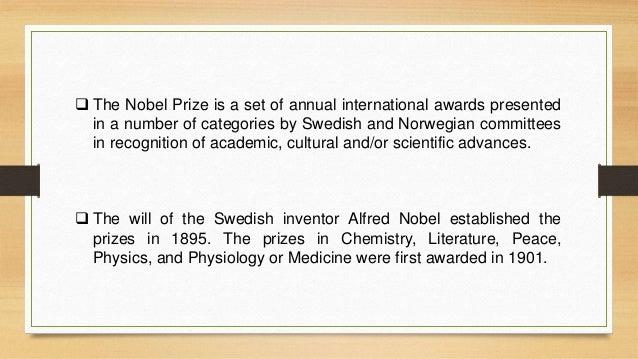 Nobel prize in medicine Slide 2