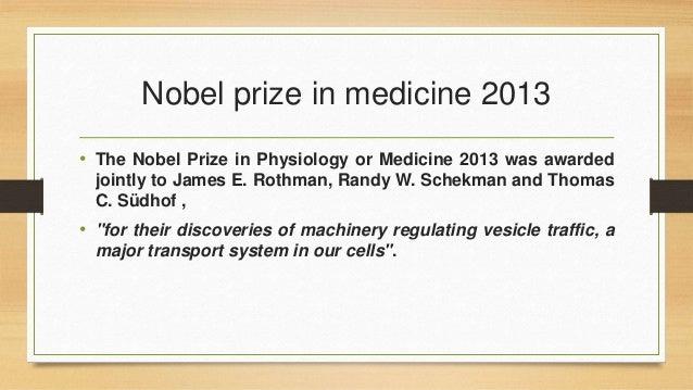 Nobel prize in medicine Slide 3
