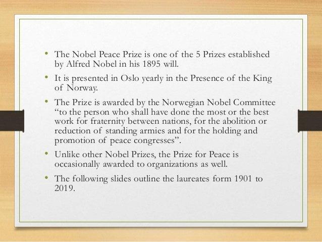 NOBEL PEACE PRIZE Slide 2