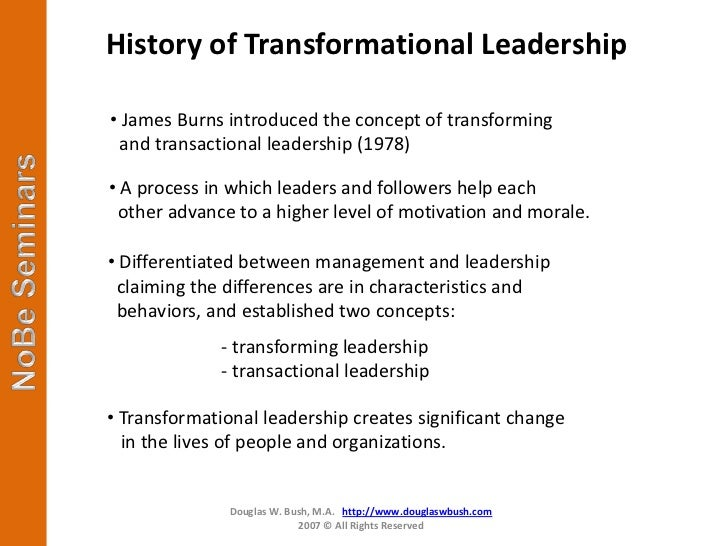 developing transformational leadership capability in the Implementing successful transformational leadership competency development in healthcare at a personal level the development of transformational leadership should occur across all the.