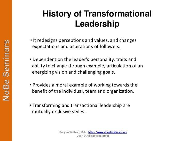 transformational leadership 3 essay