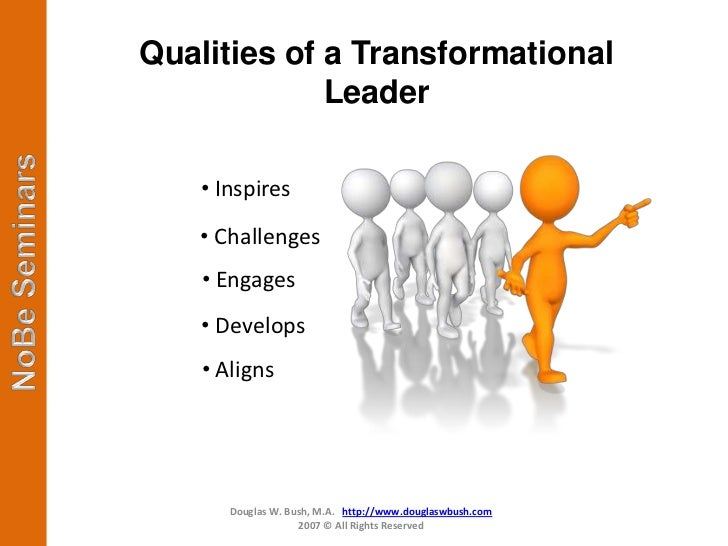 transformational leaders Transformational leadership is only one style of management, but it has the potential to empower your workforce to do more than you thought possible.