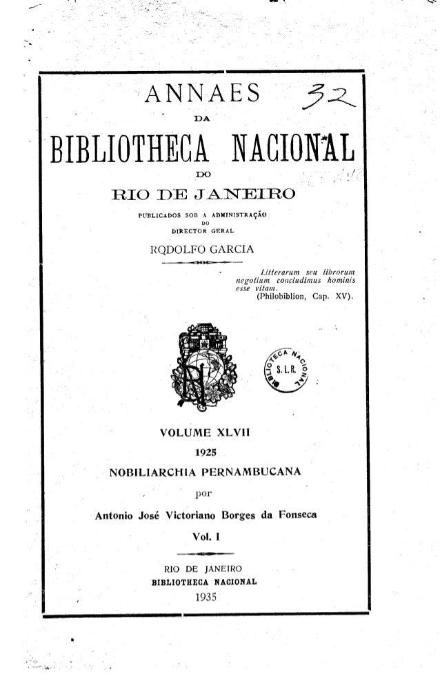 Nobiliarchia Pernambucana, vol.1