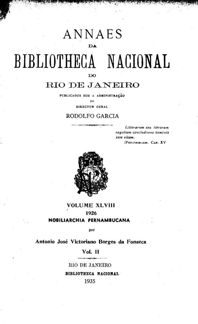 Nobiliarchia Pernambucana vol 2