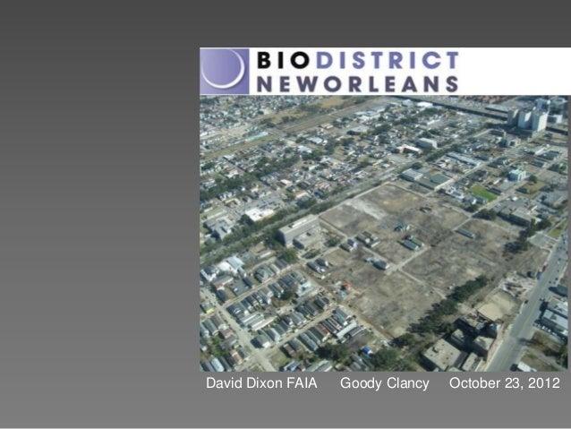 David Dixon FAIA   Goody Clancy   October 23, 2012