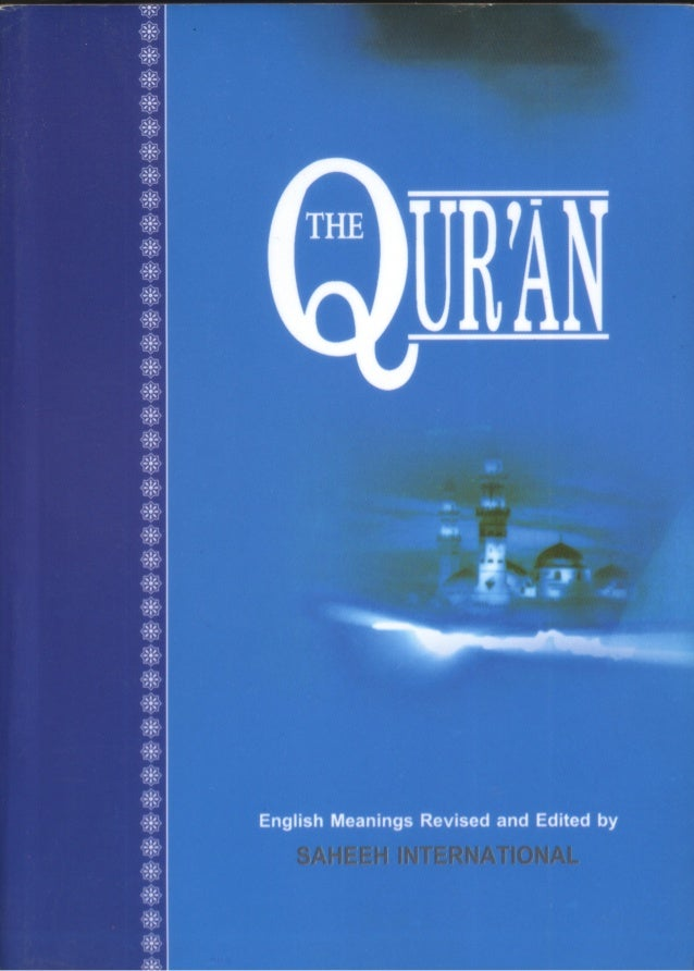 English TranslationOf The Meanings OfThe Noble Quran  www.FreeQuran.com   Translated and Edited by:  The Message Internati...