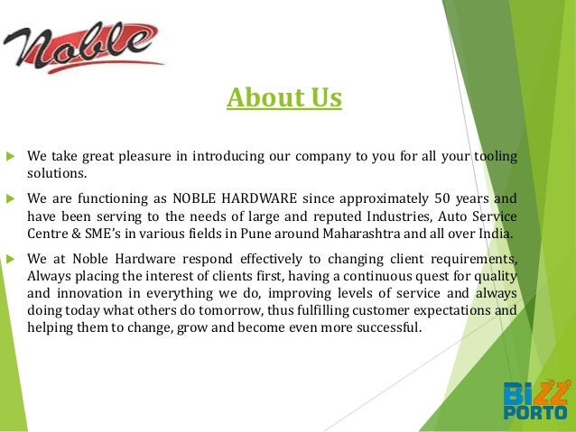 About Us  We take great pleasure in introducing our company to you for all your tooling solutions.  We are functioning a...