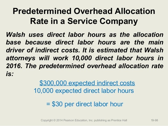 headquarters' overhead cost allocation at korea Overhead rates are developed by dividing the overhead costs by the selected allocation base of direct labor dollars or direct labor hours, typically g&a rates are usually determined by the total cost input base representing the total activity of the business.