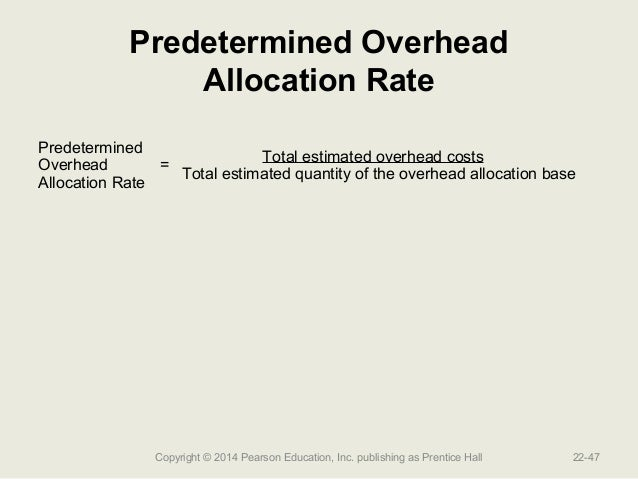 overhead allocation of cost The cost allocated and apportioned within section i is then the direct cost allocation plus the overhead general farming cost from the above formulaic approach.