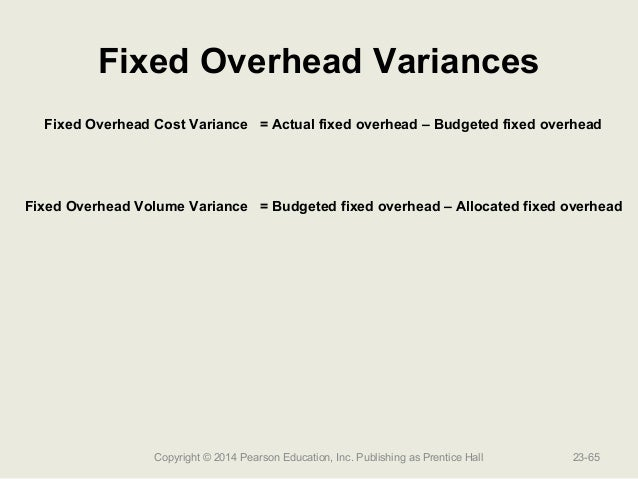 How are fixed and variable overhead different?