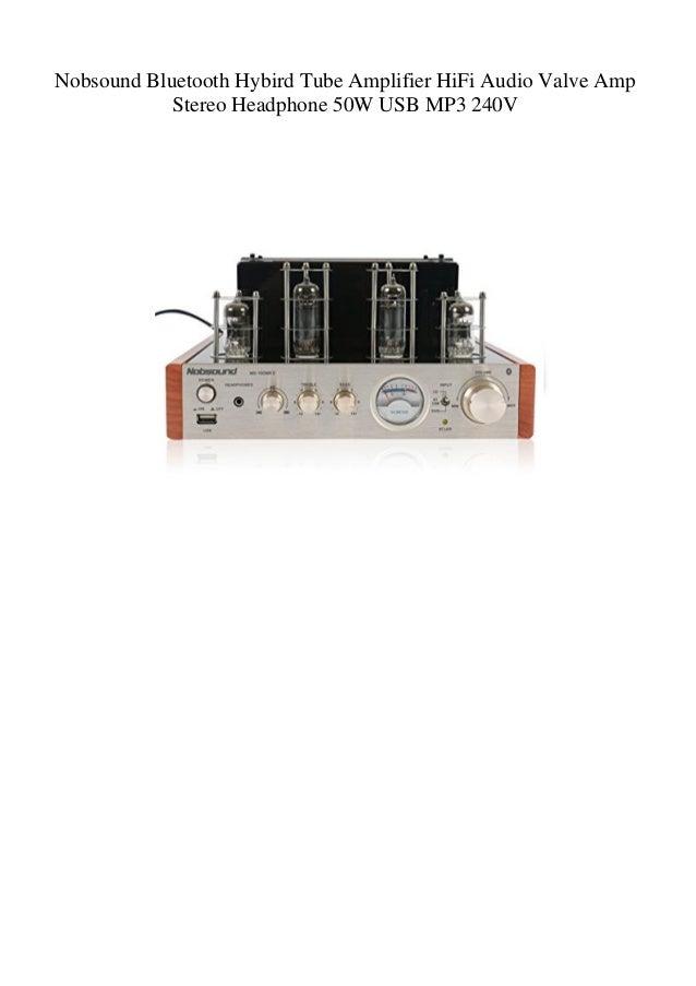 Nobsound Bluetooth Hybird Tube Amplifier HiFi Audio Valve