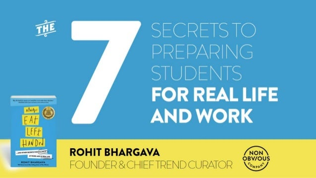 7 Secrets To Prepare Students For The Real World (Always Eat Left Handed Book Presentation)
