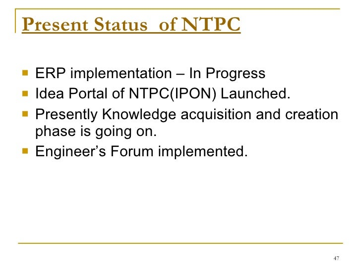 """erp ntpc Our project titled """"erp in ntpc"""" focuses on aligning employees, strategies and  processes or business success through an erp the overall."""