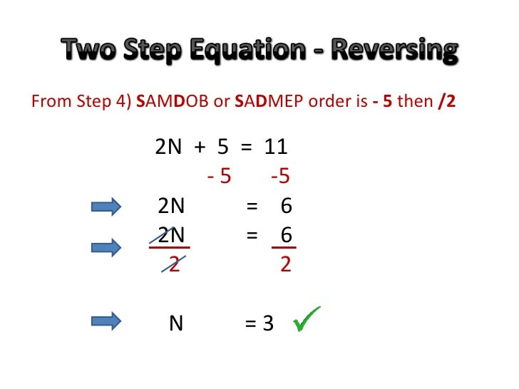 Solving Two Step Equations Using Opposites – Solving One and Two Step Equations Worksheet