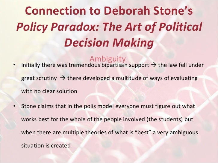 deborah stone policy paradox Buy policy paradox 3rd edition (9780393912722) by deborah stone for up to 90% off at textbookscom.