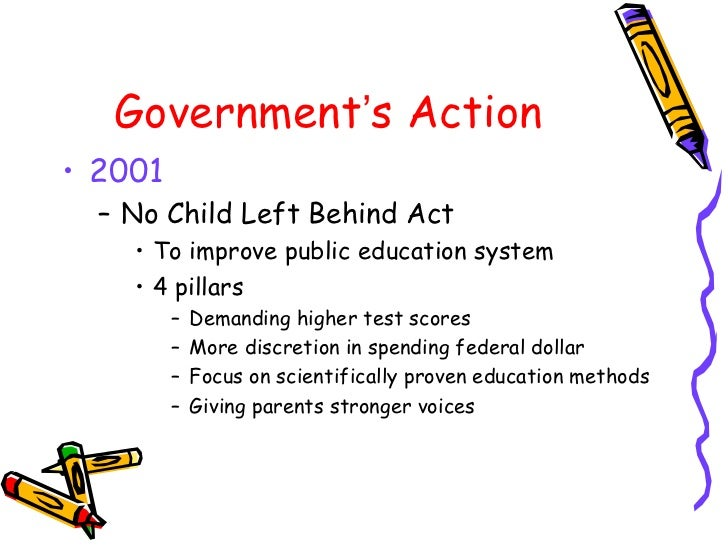 the no child left behind law The no child left behind act of 2001 was passed by congress in 2001 but not signed into law by president george w bush until 2002 since the law was enacted by the.