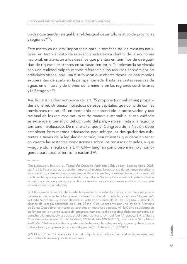 La noci n de suelo como recurso natural conceptualizaci n for Recurso clausula suelo