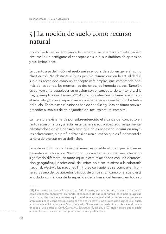 La noci n de suelo como recurso natural conceptualizaci n for Clausula suelo significado