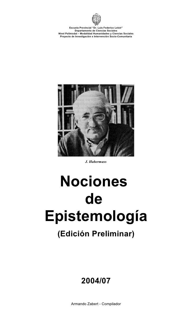 """Escuela Provincial """"Dr. Luis Federico Leloir""""               Departamento de Ciencias Sociales  Nivel Polimodal – Modalidad..."""