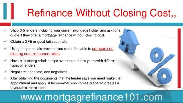 best no cost refinance rates