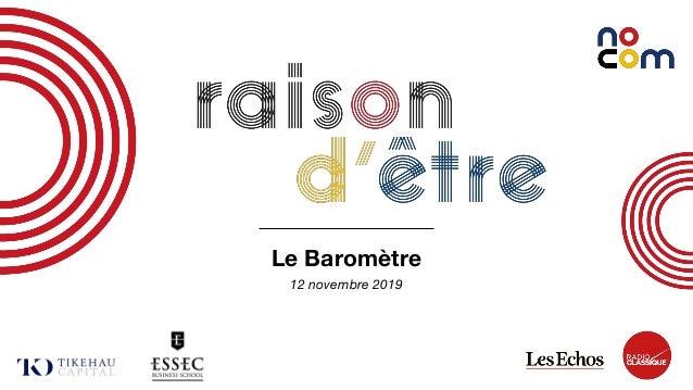 1 Le Baromètre 12 novembre 2019