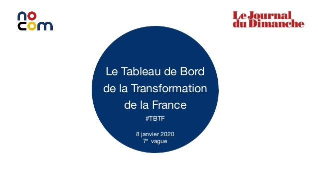1 Le Tableau de Bord de la Transformation de la France #TBTF 8 janvier 2020 7e vague