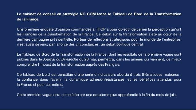 Le tableau de bord de la transformation de la France - vague 1 #TBTF Slide 2