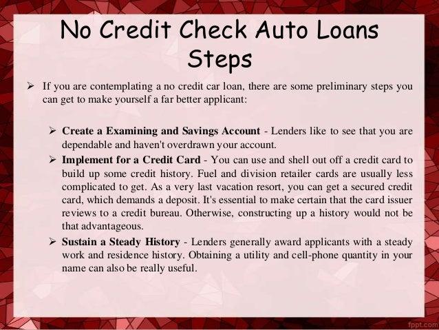 No credit car loan - 웹