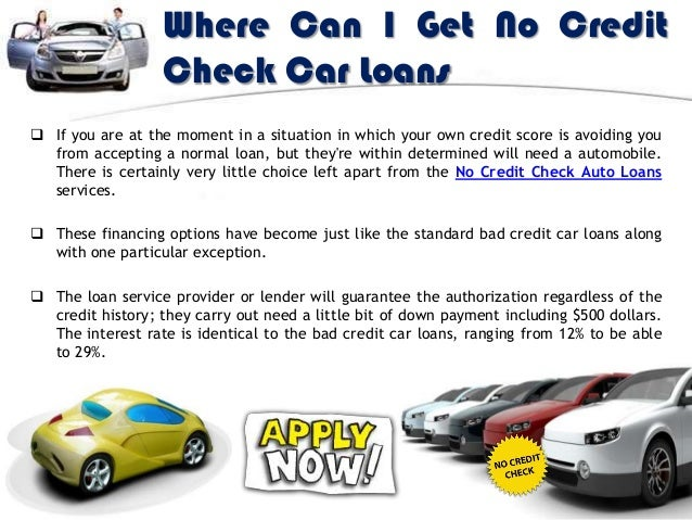 No Credit Check Car Loans >> How To Get No Credit Check Auto Loans Online