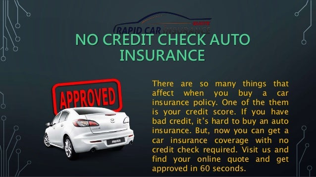 Car insurance without credit check