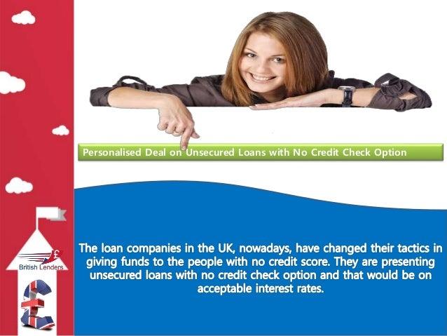 no credit check personal loans