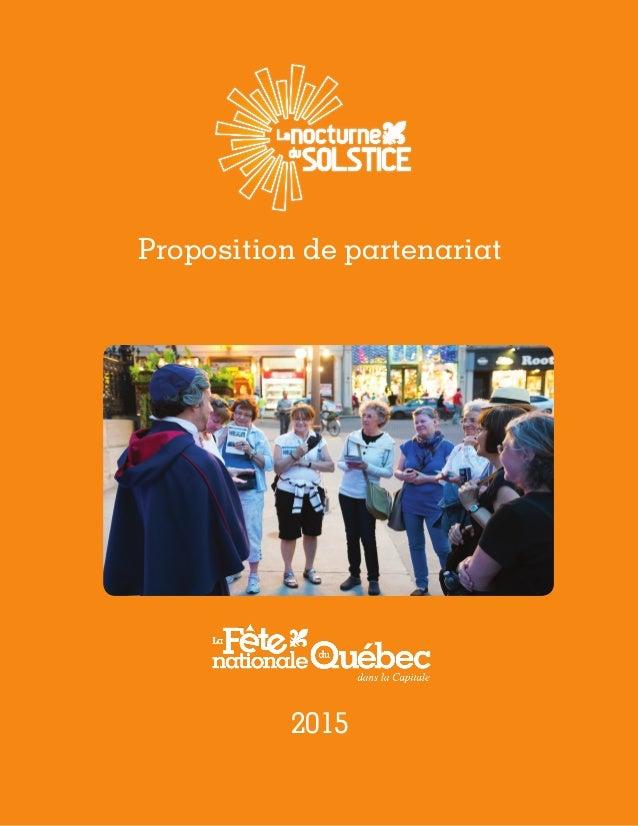 1 Proposition de partenariat 2015