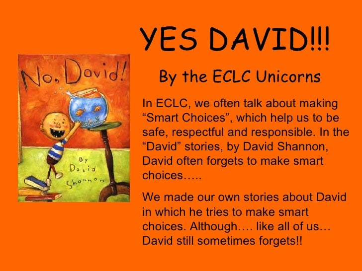 "YES DAVID!!!  By the ECLC Unicorns In ECLC, we often talk about making ""Smart Choices"", which help us to be safe, respectf..."