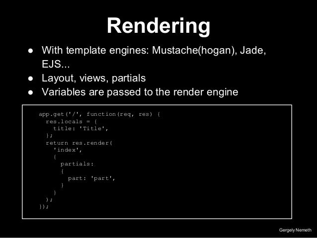Nodejs with express everyauth 9 rendering gergely nemeth with template engines pronofoot35fo Images