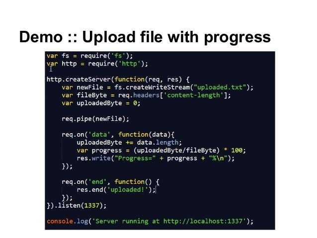 Demo :: Upload file with progress