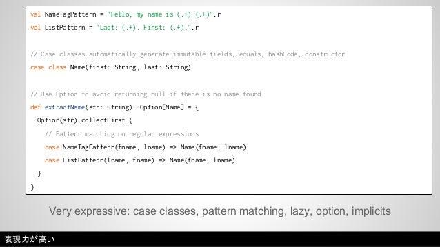 Runs on the JVM; interop with Java.