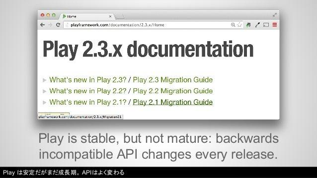 Even worse: Scala is not binary compatible  between releases!  Scala はリリース間でバイナリ互換性を持たない!