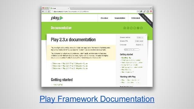 Play Framework Documentation