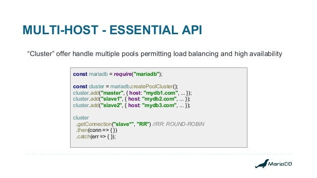 Building better Node js applications on MariaDB