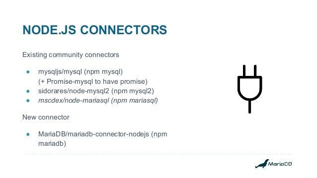 Building better Node.js applications on MariaDB Slide 3