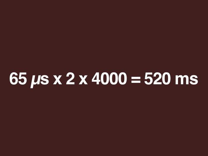 65 µs x 2 x 4000 = 520 ms