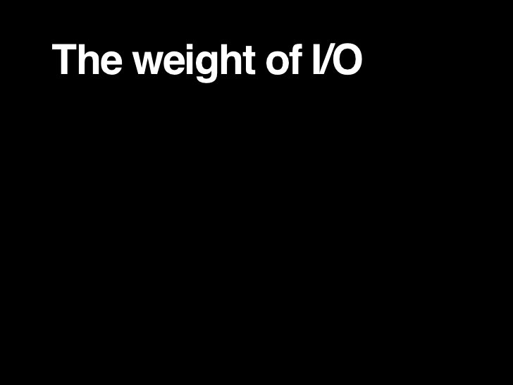 The weight of I/O