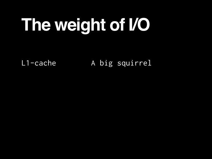 The weight of I/O  L1-cache   A big squirrel