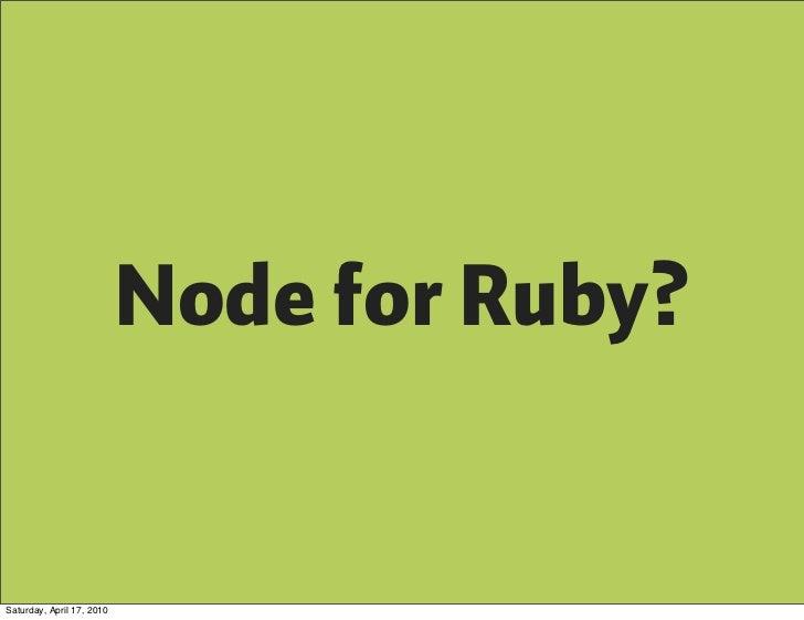 Learn node js or ruby