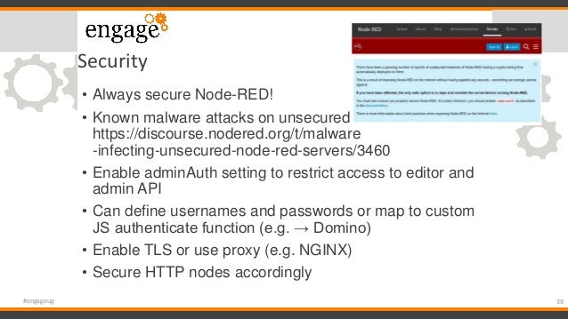 Engage 2019: Introduction to Node-Red